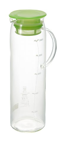 ハリオ 水出し茶ポット柄付・ベビーリーフ 1,000ml MDP-10BL