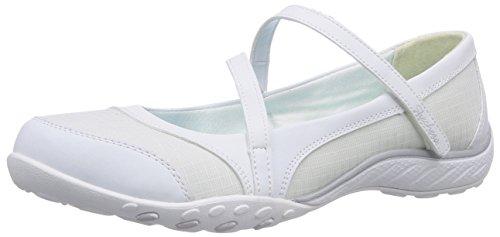 Skechers Breathe-EasyMarigold, Ballerine chiuse donna, Bianco (Weiß (WHT)), 38