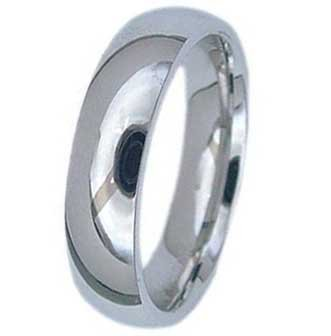 6MM High Polished Stainless Steel Wedding Band