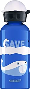 Sigg Polar Water Bottle, 0.4-Liter, Blue