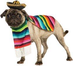 Pet Costume: Mexican Poncho Sombrero Medium PROD-ID : 1929092 (Pet Mexican Serape And Sombrero)