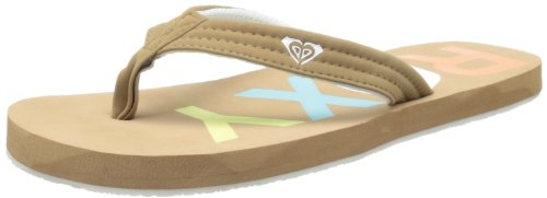 Roxy Women's Low Tide Flip Flop,Khaki,8 M US