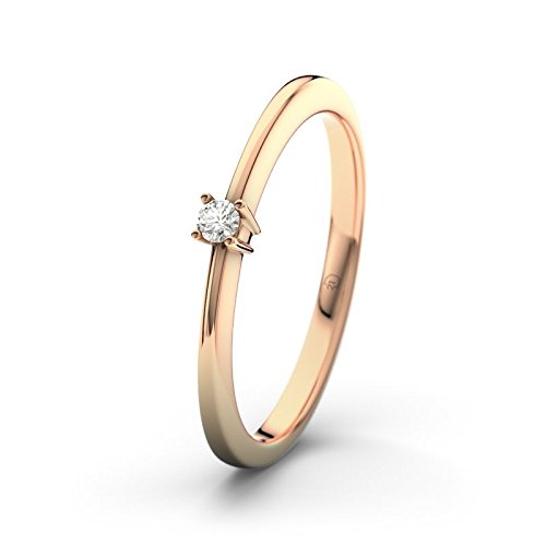 21DIAMONDS Women's Ring Leah VS2 0.03 Carat Brilliant Cut Diamond Engagement Ring 14ct Rose Gold Engagement Ring