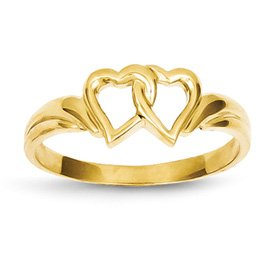 Genuine IceCarats Designer Jewelry Gift 14K Heart Ring Size 7.00