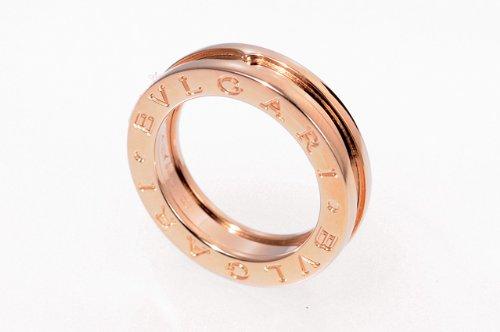 BVLGARI ブルガリ リング B-ZERO 1 PG AN852422 1Bands ピンクゴールド 18K 指輪 1バンド ペアリング マリッジリング 【日本サイズ9号】