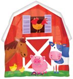Barn Party Supplies Mylar Balloon Super Shape - 1