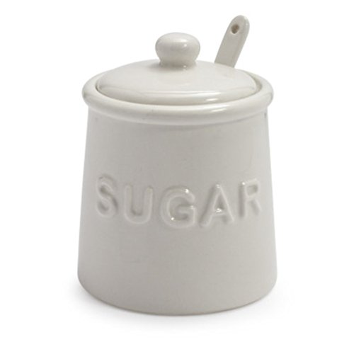 Sur La Table Sugar Bowl with Lid and Serving Spoon AD03199-SG-C (Ceramic Table Spoon compare prices)