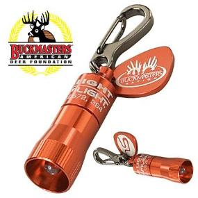 The Streamlight Nano Light Keychain Flashlight features the Buckmasters logo