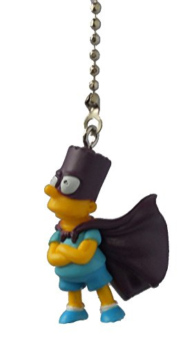The Simpsons family - Simpson tv cartoon series character Ceiling FAN PULL light chain (Bart - Bartman in purple cape) (Character Ceiling Fans compare prices)
