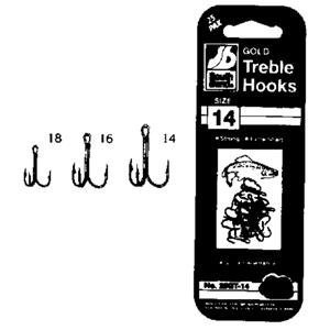 South Bend Fishing Lures Gold Treble Hooks 25 Pack Size 14 from South Bend