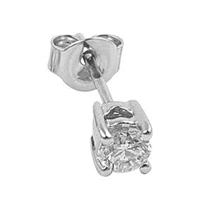 0 25 karat herren diamant solitaire ohrstecker 18 karat weissgold schmuck. Black Bedroom Furniture Sets. Home Design Ideas