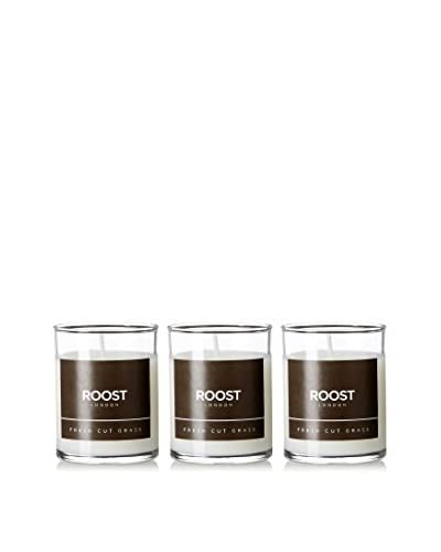 Bluewick Candles Set of 3 Fresh Cut Grass ROOST London Everyday Scented 3.2-Oz. Votive Candles