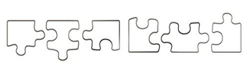 Fox Run Brands Puzzle Pieces Cookie Cutter Set, Metallic