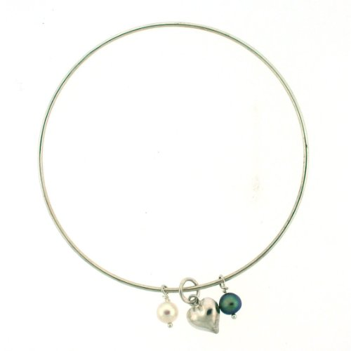3in Diameter Sterling Silver Bangle Bracelet