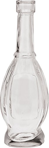 Luna Bazaar Small Vintage Glass Bottle Set (7-Inch, Clear, Set of 6) - Flower Bud Vases Bulk - For Home Decor and Wedding Centerpieces 3