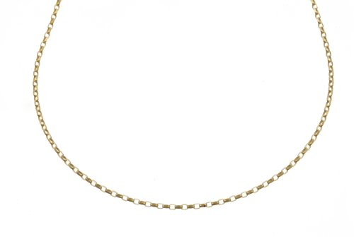 Pendant Necklace, 9ct Yellow Gold Belcher Chain, 46cm Length, Model RFOVD 058