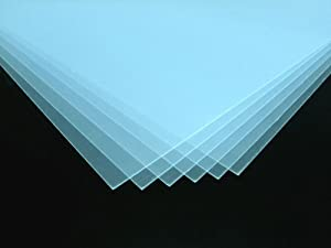 Acrylglas klar 1mm stark 60x80cm Polystyrol Kunstglas m. Schutzfolie 3 Scheiben