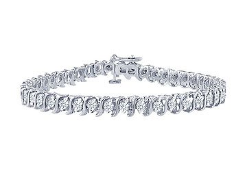 Diamond S Tennis Bracelet Platinum - 2.00 CT Diamonds