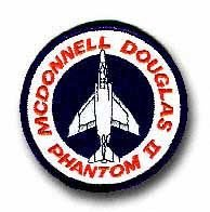 "MCDONNELL DOUGLAS F-4 ""PHANTOM II"" 3"" PATCH"