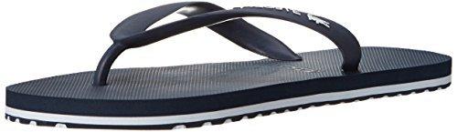 Lacoste Men's Nosara Lcr Spm Flip Flop, Dark Blue/White, 12 M US