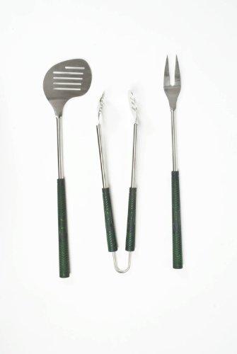 Charcoal Companion Golf Club 3-Piece Barbecue Tool Set Garden, Lawn, Supply, Maintenance
