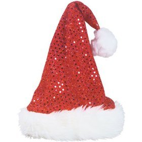 Kids SEQUIN Santa HAT/Cap/PHOTO OP/Party Attire/ELF/Mrs CLAUS - 1