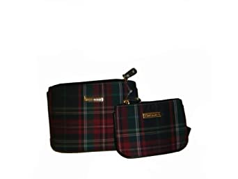 Tommy Hilfiger Women's Two-Piece Cosmetic/Change Purse Set, Plaid