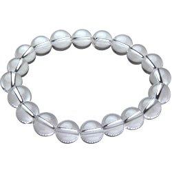【セノーテ】 cenote t0408 【パワーストーン ブレスレット】 クォーツ 水晶 クリスタル 数珠 10mm玉 ブレス メンズ 【18cm 内周15cm】