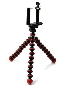 Case Star Octopus Style Portable and adjustable Tripod Stand Holder for iPhone, Cellphone ,Camera and Case Star Cellphone Bag-Red and Black