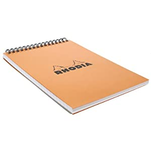 Rhodia Wirebound Lined Orange Notepads 6 X 8 ¼