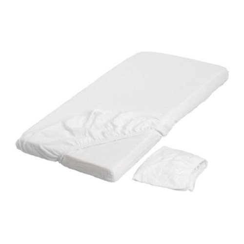 LEN White Fitted Crib Sheets (2 Pack) 28 X 52 - 1