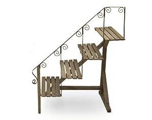Scaletta in legno portavasi giardino e for Portavasi a scaletta