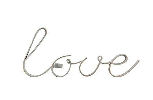 Young's 3D Metal Tabletop Love Word Wall Decorative Sign, 13.75