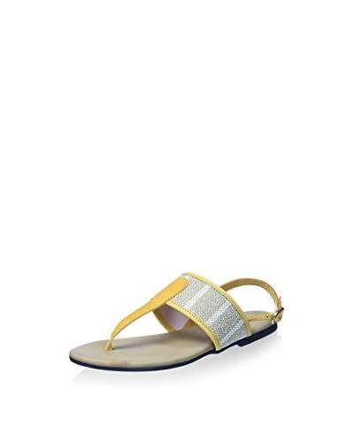 Bisue Sandale gelb/natur EU 40