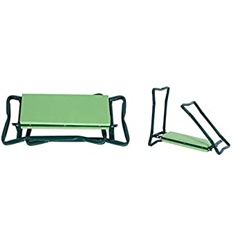 5Star Foldable Garden Kneeler With Handles And Seat - Bonus Tool Pouch - Portable Garden Stool - Thick EVA Pad (Large - 23.5 x 10.5 x 19