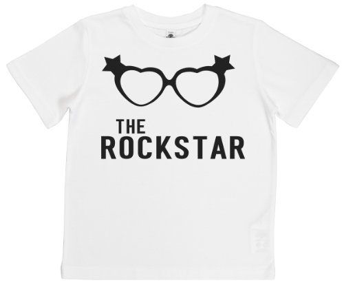Phunky Buddha - The Rockstar Girls Unisex Kids T-Shirt 5-6 Yrs - White front-833573