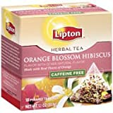 Lipton Herbal Orange Blossom Hibiscus Pyramid Tea Bags 1.1 oz