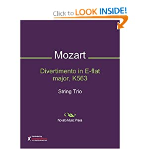 Divertimento in E-flat major, K563 Sheet Music (String Trio) Wolfgang Amadeus Mozart