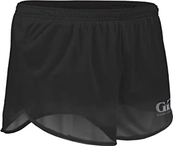 "TR60 Men's 2.5"" Athletic Lightweight Track Short with Waistband and Side Vent (X-Small, Black)"
