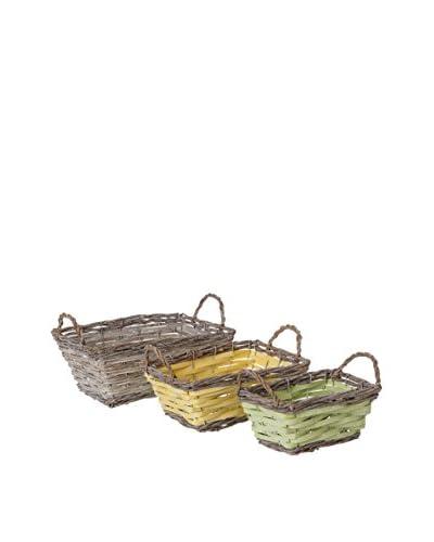 NATURA ACCENT Storage Basket Set van 3
