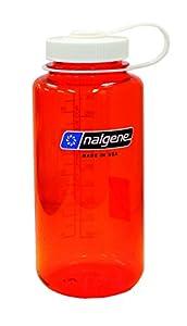 Nalgene BPA Free Tritan Wide Mouth Water Bottle, 1-Quart, Orange