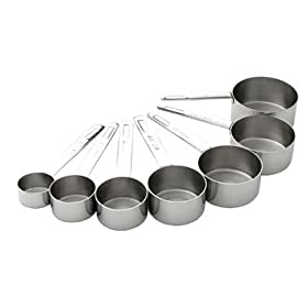 MIU Stainless-Steel 7-Piece Measuring Cup Set
