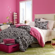 Black White And Pink Bedding 2120 front