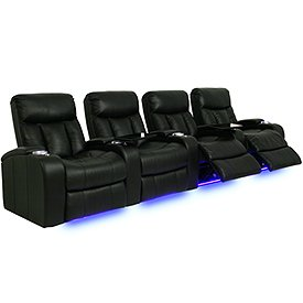 Seatcraft 841 signature series verona home theater seating with power recline row Home theater furniture amazon
