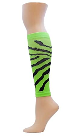Buy Red Lion Adult Florescent Tiger Compression Leg Sleeves by Red Lion