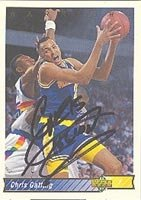 Chris Gatling Golden State Warriors 1992 Upper Deck Autographed Hand Signed Trading... by Hall of Fame Memorabilia