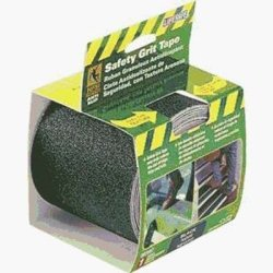 INCOM Manufacturing  Anti-Slip Safety Grit Tape, Black, Self