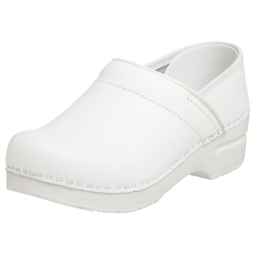 Dansko Women's Professional Box Leather Clog,White,38 EU / 7.5-8 B(M) US