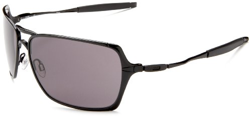 Oakley Men's Inmate Sunglasses,Polished Black Frame/Warm Grey Lens,one size
