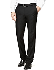 Big & Tall Flat Front Slim Fit Trousers